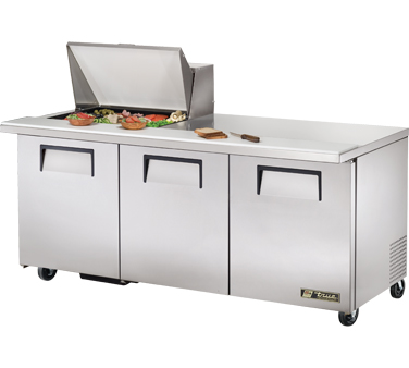 True TSSU-72-12M-B 19 Cu Ft Mega Top Sandwich / Salad Prep Table