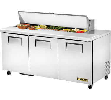 True TSSU-72-16 19 Cu Ft Sandwich / Salad Prep Table With 11-3/4