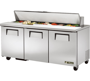 True TSSU-72-18 19 Cu Ft Sandwich / Salad Prep Table With 11-3/4