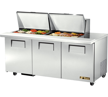 True TSSU-72-24M-B-ST 19 Cu Ft Mega Top Sandwich / Salad Prep Table