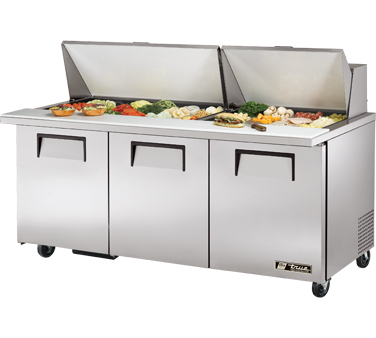 True TSSU-72-30M-B-ST 19 Cu Ft Mega Top Sandwich / Salad Prep Table