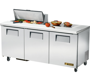 True Tssu 72 8 19 Cu Ft Sandwich Salad Prep Table With