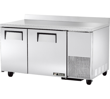 True TWT-60-32F 15.9 Cu Ft Two-Section Work Top Freezer