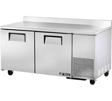 True TWT-67F 20.6 Cu Ft Two-Section Work Top Freezer