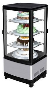 Turbo Air CRT-77-2R-N Countertop Diamond Show Case Pass Through Glass Merchandiser 17