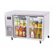 Turbo-Air-JUR-48-G-Two-Section-Door-Undercounter-Refrigerator---11-Cu-Ft-