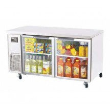 Turbo-Air-JUR-60-G-Two-Section-Door-Undercounter-Refrigerator----15-Cu-Ft-