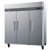 Turbo Air M3F72-3-N M3 Series Three Solid Door Reach In Freezer 78