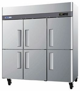 Turbo Air M3R72-6-N M3 Series Solid Half Door Stainless Steel Reach-In Refrigerator 52