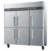 Turbo Air M3R72-6 Three-section Reach-In Half-Door Refrigerator