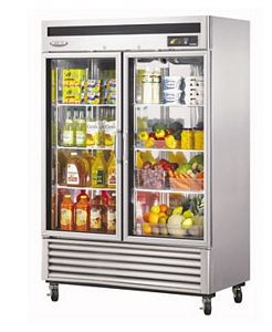 Turbo Air MSR-49G-2 Two-section Reach-In New Maximum Glass Door Refrigerator