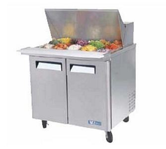 Turbo Air MST-36-15-N6 2 Door Mega Top Refrigerated Sandwich Prep Table 36
