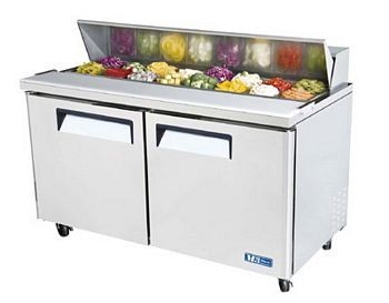 Turbo Air MST-60-N M3 Series 2 Door Stainless Steel Refrigerated Sandwich Prep Table 60