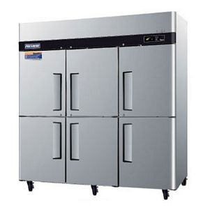 Turbo Air PRO-77-6R-N Premiere Pro Three Section Solid Half Door Reach in Refrigerator