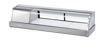 Turbo Air SAKURA-50 Curved Glass Stainless Steel Refrigerated Sushi Case 50""