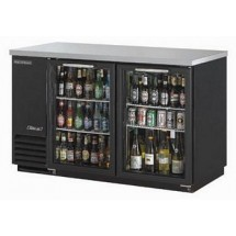 Turbo Air TBB-2SG 58.8'' Two-Section Back Bar Cooler With Glass Doors