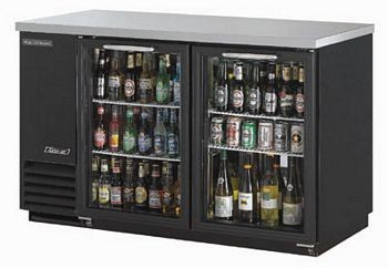 Turbo Air TBB-2SG 2-Section Glass Door Back Bar Refrigerator 59""
