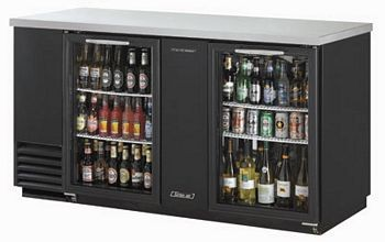 Turbo Air TBB-3SG 69.1'' Two-Section Back Bar Cooler With Glass Doors