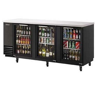 Turbo Air TBB-4SG 90.39'' Three-Section Back Bar Cooler With Glass Doors