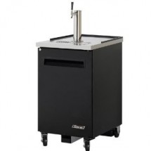 Turbo Air TBD-1SB-N6 Super Deluxe Black Double Tap  Beer Dispenser 24''