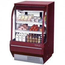 Turbo Air TCDD-36H-R-N Red Curved Glass Refrigerated  Deli Case 36