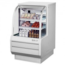Turbo Air TCDD-36H-W-N White Curved Glass Refrigerated Deli Case 36""