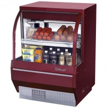 Turbo Air TCDD-36L-R-N Red Low Profile Curved Glass  Refrigerated Deli Case 36