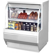 Turbo Air TCDD-36L-W-N White Low Profile Curved Glass Refrigerated Deli Case 36""