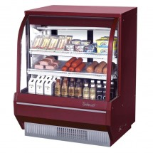 Turbo Air TCDD-48H-W-N White Curved Glass Refrigerated Deli Case 48""
