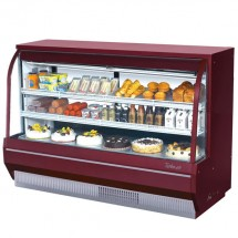 Turbo Air TCDD-72H-R-N Red Curved Glass Refrigerated Deli Case 72