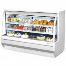 Turbo Air TCDD-72H-W-N White Curved Glass Refrigerated Deli Case 72""