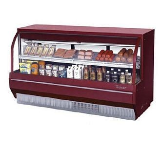 Turbo Air TCDD-72L-R-N Red Low Profile Curved Glass Refrigerated Deli Case 72
