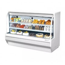 Turbo Air TCDD-72L-W-N White Low Profile Curved Glass Refrigerated Deli Case 72""