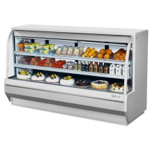 """Turbo Air TCDD-96H-W-N White Curved Glass Refrigerated Deli Case 96"""""""