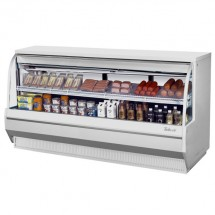 """Turbo Air TCDD-96L-W-N White Low Profile Curved Glass Refrigerated Deli Case 96"""""""