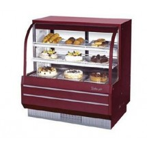Turbo Air TCGB-48-R-N Red Curved Glass Refrigerated Bakery Display Case 48