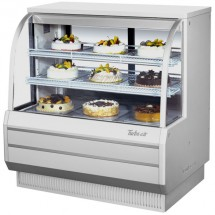 Turbo Air TCGB 48DR-W-N White Curved Glass Dry Bakery Display Case 36""