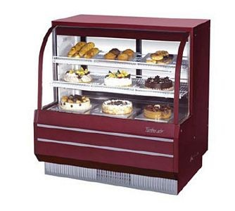 Turbo Air TCGB-60-DR Curved Glass Dry Bakery Display Case 60-1/2