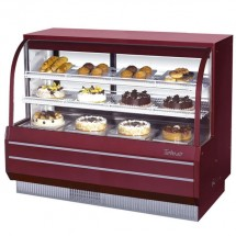 Turbo Air TCGB-60-R-N  Red Curved Glass Refrigerated Bakery Display Case 60