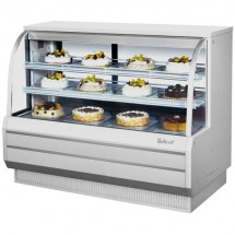 Turbo Air TCGB-60-W-N White Curved Glass Refrigerated Bakery Display Case 60""