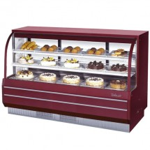 Turbo Air TCGB-72DR-R-N Red Curved Glass Dry Bakery Display Case 72