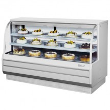 Turbo Air TCGB-72DR-W-N White  Curved Glass Dry Bakery Display Case 72""