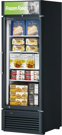 Turbo Air TGF-23SDB-N Super Deluxe Black Glass Door Merchandiser Freezer 27""