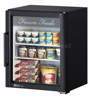 Turbo Air TGF-5SDB-N Black Super Deluxe Countertop Swing Door Display Freezer
