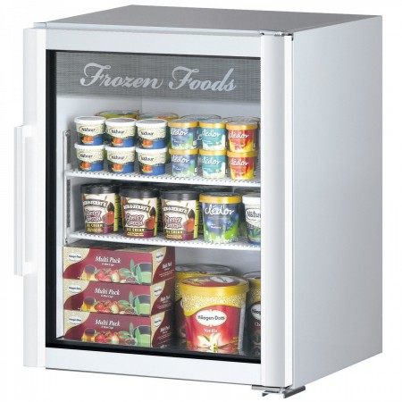 Turbo Air TGF-5SDW-N Super Deluxe White Countertop Swing Door Display Freezer