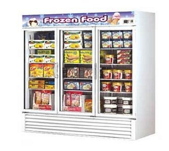 Turbo Air TGF-72F-N Three Section Glass Door Merchandising Freezer 82