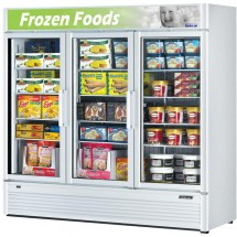 Turbo Air TGF-72SD Three Section Glass Door Merchandiser Freezer - 71.3 Cu Ft.