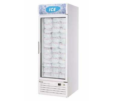 Turbo Air TGIM-23 One-Section Glass Door Ice Merchandiser -  21.1 Cu Ft.