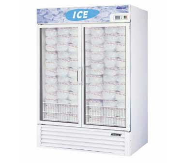 Turbo Air TGIM-49 Two-Section Glass Door Ice Merchandiser -  46.2 Cu Ft.