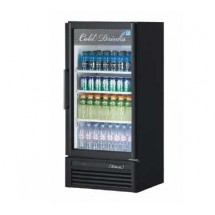 Turbo Air TGM-10SD Black Super Deluxe Single Glass Door Refrigerated Merchandiser - 9.3 Cu Ft.